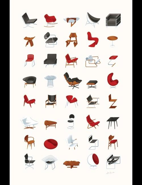 Mid-Century Modern Furniture Poster