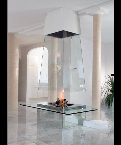 Glass Fireplace From Bloch Design