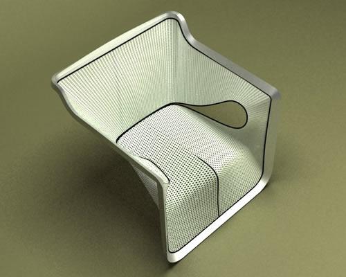 Aluminium frame Armchair