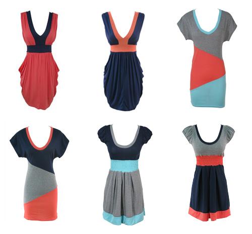 TFNC Colour Block Dresses